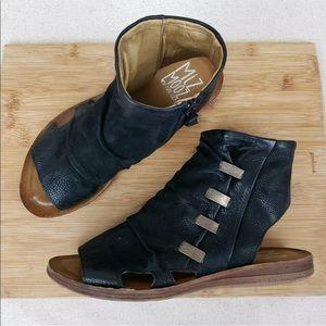 Miz Mooz Women's Peep Toe Flats Boho Ankle Sandals